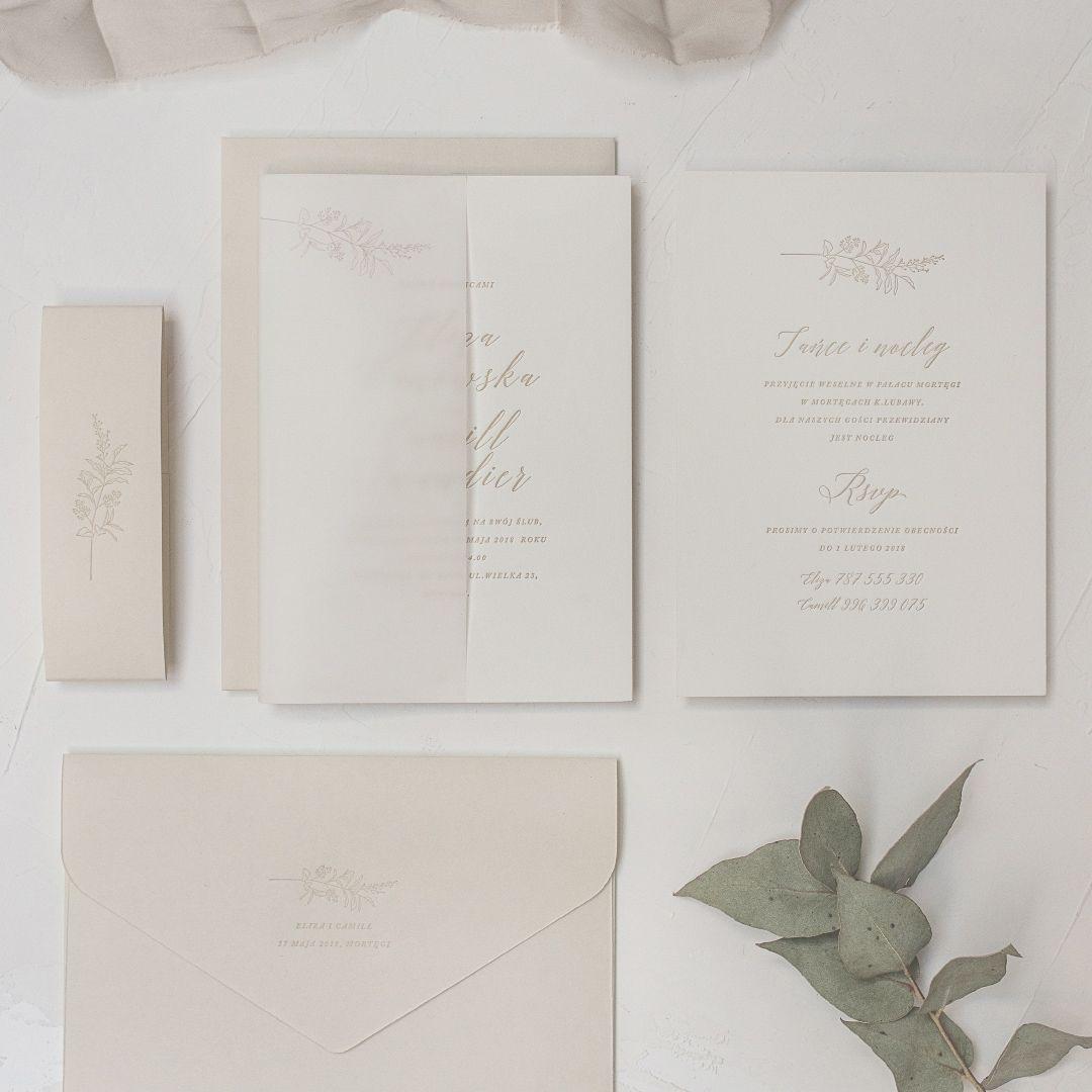 zaproszenia smooth beige 01